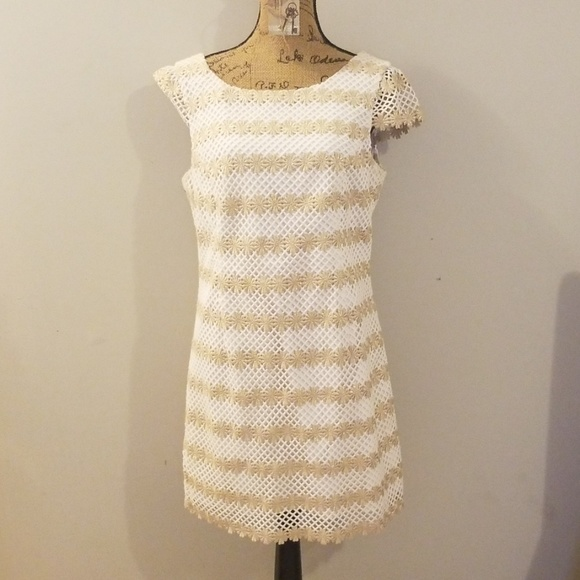 Lilly Pulitzer Dresses & Skirts - Lilly Pulitzer Gold and White Special Occasion